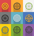 Different targets collection vector image vector image