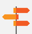Direction route sign vector image vector image