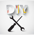 diy - do it yourself design with screwdriver and vector image vector image