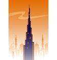 Dubai skyline background vector image vector image