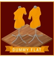 Dummy flat isometric icon vector image vector image