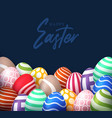 easter 2021 poster with empty space banner vector image