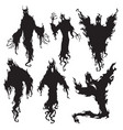 evil spirit silhouette halloween dark night devil vector image vector image