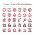 fire line icon vector image