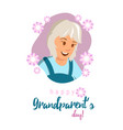 flat banner happy grandparents day vector image
