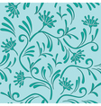 floral pattern with color of celadon vector image