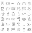 furniture icons set outline style vector image vector image