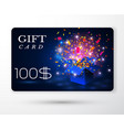 gift vouchers card vector image