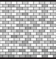 gray brick wall pattern seamless background vector image vector image