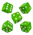 green dice set icon vector image vector image