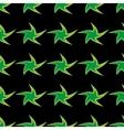 Green stars geometric seamless pattern vector image