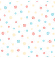 hand painted polka dot seamless pattern colored vector image vector image