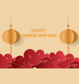 happy chinese new yearpaper art backgroung vector image vector image