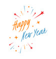 happy new year 2020 on white background new vector image vector image