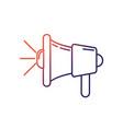 line megaphone tool to speaker communication vector image