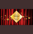 luxury valentines day sale banner in red gold vector image