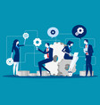 maintenance business people for product vector image vector image