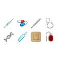 medicine and treatment icons in set collection for vector image vector image