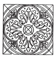 medieval tile circle pattern is a stained glass vector image vector image