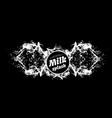 milk splash on black background spray vector image vector image