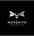 modern abstract flying mosquito logo icon vector image