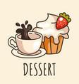 morning breakfast dessert vector image