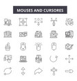 mouses and cursores line icons signs set vector image vector image