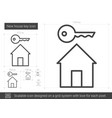 new house key line icon vector image