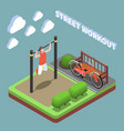 outdoor exercises isometric composition vector image