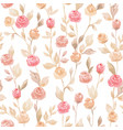 pastel seamless flower pattern backdrop background vector image vector image