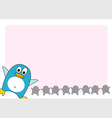 Penguin background vector image vector image