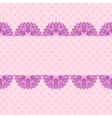 Pink pattern with floral stripe vector image vector image