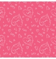 Pink romantic pattern vector image