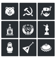 Russia icons vector image vector image