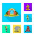 safari and animal sign set vector image