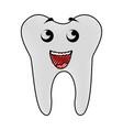 scribble tooth cartoon vector image