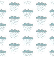 seamless pattern with cute hand drawn clouds vector image