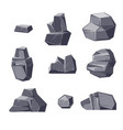 set of different cartoon-style boulders isolated vector image vector image