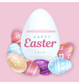 set of easter eggs with inscription vector image vector image