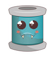 sewing thread roll comic character vector image vector image