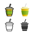 Soft drink colored icon set vector image vector image