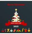 Stylized Christmas tree vector image vector image