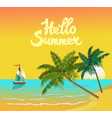 summer vacation and travel design vector image vector image