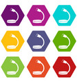 table microphone icons set 9 vector image
