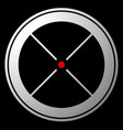 target mark crosshair reticle icon with red dot vector image