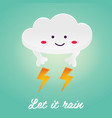 the funny cloud with lights vector image