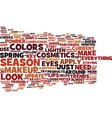 the must have makeup products of the season text vector image vector image
