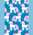 unicorn pattern seamless background magic horse vector image vector image