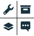 user icons set collection of base messenger vector image vector image