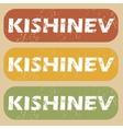 Vintage Kishinev stamp set vector image vector image